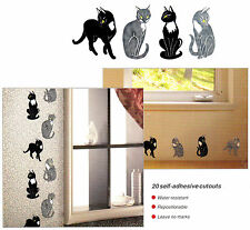 20 Wall/Tile Decals Stickers Cutouts - Animal Cat Design, For Any Room ~3.5""