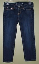 American Eagle stretch skinny cropped jeans junior womens size 00 regular