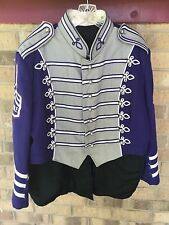 1 Marching Band Uniform Gray Purple Blue  TAILS Costume sgt pepper  50 52 54 56