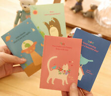 4 x Booklets Cute Cat Bird Animal Bear Pad Fun Kids stationary Memo Note Book