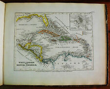 1849 MEYER'S ZEITUNGS-ATLAS=GEOGRAPHICAL MAP:WEST INDIE-MITTEL O CENTRO AMERICA