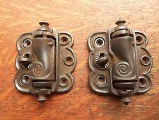 Two Antique Cast Iron Quick Release Screen Door Hinges c1885 by Sargent