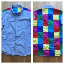 Sophnet Japan x Uniform Experiment Blue Oxford Patchwork Shirt S Small $350 WOW