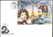 CENTRAL AFRICA 2013 50th MEMORIAL ANNIVERSARY EDITH PIAF S/SHEET FDC