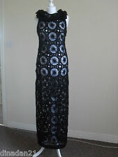 Monsoon knitted mohair dress, size 10, long, black, brand new