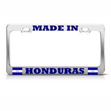 MADE IN HONDURAS HONDURAN PRIDE FLAG License Plate Frame Tag Border