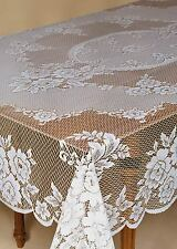 Heritage Lace VICTORIAN ROSE Tablecloth 60 x 108 Ecru Made in USA