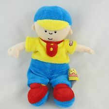 "Caillou Plush Doll 7"" Tall Stuffed Toy w/ Primary Color Outfit"
