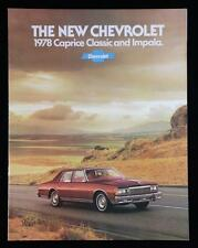 New Old Stock 1978 Chevrolet Caprice Classic And Impala Sales Brochure 15 pages