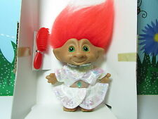 "ORANGE HAIRED GIRL IN FANCY DRESS - 5"" Ace Treasure Troll Doll - NEW IN PACKAGE"