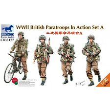 Bronco WWII British Red Devil Paratroopers In Action Set A model kit 1/35