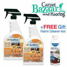 2 ForceField UV Sunblock Fabric Protector 22oz ea + FREE Gift Fabric Cleaner 4oz