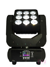 9X10W CREE RGBW 4in1 LED's 3x3 Matrix Beam Moving Head for stage DJ Club Light