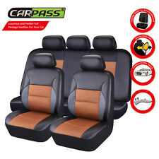 Universal Car Seat Covers Black Orange Car Truck SUV Seat Covers Fit split Seat