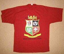 New Large Mens British Lions 2001 Australian Tour Rugby Union Tee T Shirt Cotton