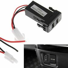 Dual USB Charger for Toyota OEM Switch Prado 120, FJ Cruiser, Hilux, LC100