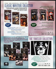 Universal CLASSIC MONSTERS Collection__ Orig. 1994 Print AD promo__BORIS KARLOFF