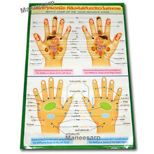 SKETCH CHART OF THE HAND REFLEXIVE ZONES POSTER BY TRADITIONAL THAI HAND MASSAGE