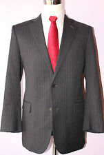 Brooks Brothers Gray Striped Wool Two Button Mens Suit 38 R Jacket 32 29 Pants