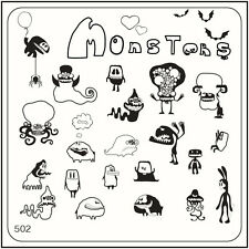 MoYou Nail Fashion Square Stamping Image Plate 502 Halloween Style