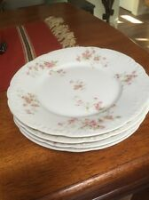 Antique Victorian Haviland & Co.Limoges Pink Roses 4 Luncheon Plates
