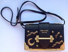 AUTHENTIC PRADA SMALL LAMBSKIN ASTROLOGY CAHIER BAG PURSE - from 2016 - Rare