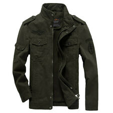 2017 New Men's Military Style Slim Fit Zip Jacket Air Force jacket Military Coat