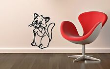 Wall Stickers Vinyl Decal Nursery Cute Cat For Kids Animal ig1439