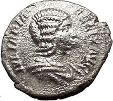 JULIA DOMNA Ancient Silver Roman Coin Diana Cult  Torch Hope Emblem i32972