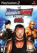 WWE SmackDown vs. Raw 2008 Featuring ECW (Sony PlayStation 2, 2007) GOOD