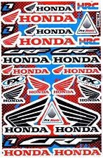 1 SHEET NEW HONDA HRC CAR MOTOCROSS ATV ENDURO BIKE RACING DECAL STICKER SK16