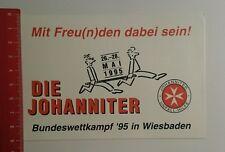 Aufkleber/Sticker: Die Johanniter Bundeswettkampf 95 Wiesbaden (040816153)