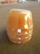 FOUR Fire King Peach Luster 6 oz Custard Bowls USA Scallop Edge
