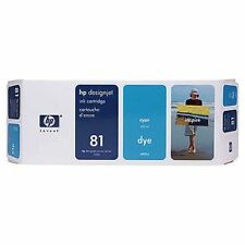 ORIGINAL & BOXED HP81 / C4931A CYAN DYE INK CARTRIDGE - SWIFTLY POSTED