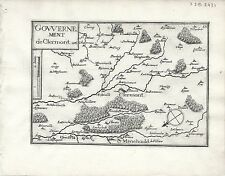 Antique maps, gouvernement de clermont