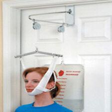 New Over Door Cervical Neck & Back Traction Head Brace Kit Set