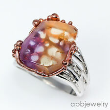 Handmade Jewelry Natural Ametrine 925 Sterling Silver Ring Size 9.5/R06633