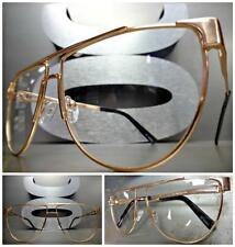 CLASSIC VINTAGE 70's RETRO Style Clear Lens EYE GLASSES Rose Gold Fashion Frame