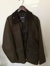 Barbour 'Bedale' Olive Green Waxed Cotton Jacket Size 40
