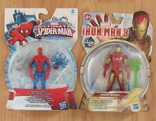 MARVEL Ultimate Spider-Man & IRON MAN 3 Figure x2 GUERRA CIVILE COMICS HASBRO