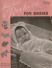 Beehive 120-A Baby Toddler Knitting Crochet Patterns Dress Bootees Romper 1946