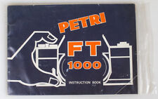PETRI FT 1000 INSTRUCTION BOOK