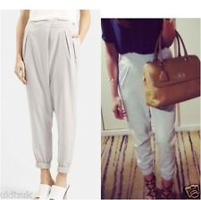 Topshop Pale Grey Sports Luxe Silky Wrap Front Posh Joggers Trousers - Size 6