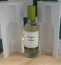 3D SMALL WINE BOTTLE TWO PIECE SILICONE MOULD FOR CAKE TOPPERS, CHOCOLATE