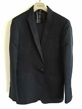 BURBERRY LONDON BLACK EVENING SUIT SIZE 48 JACKET TROUSERS BLAZER TUEXEDO
