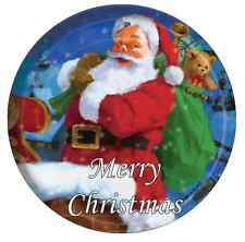 "Santa Clause Merrry Christmas Personalised Cake Topper 7.5"" Edible Wafer Paper"