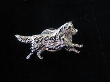 Australian Shepherd Brooch or Pin -Fashion Jewellery Silver Plated, Stud Back