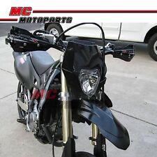 UNIVERSAL ENDURO Black HEADLIGHT MOTOCROSS STREETFIGHTER KTM WR DRZ XR