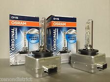 2X NEW OEM PAIR 2PCS OSRAM XENARC D1S 66144 ORIGINAL 4300K HID XENON LIGHT BULBS