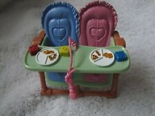 New FISHER PRICE Loving Family Dollhouse TWIN HIGHCHAIR HIGH CHAIR 2.5 inch BABY